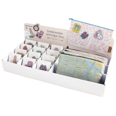 PAPIER MARCHE EMBROIDERY SEAL DISPLAY BOX