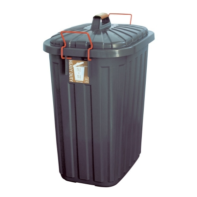SPICE PALE×PAIL ふた付きゴミ箱 チャコールグレー 60L