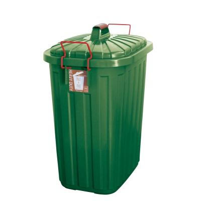 SPICE PALE×PAIL ふた付きゴミ箱 フォレストグリーン 60L