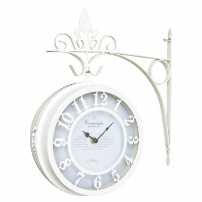 SPICE OLD STREET 壁掛け両面時計 ホワイト Lサイズ