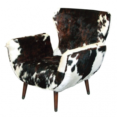 OX FUR CHAIR BROWN&WHITE