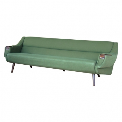 hw klein green sofa with cigarette tra