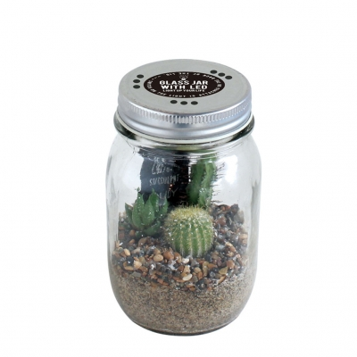 GLASS JAR WITH LED SABOTEN L SIZE