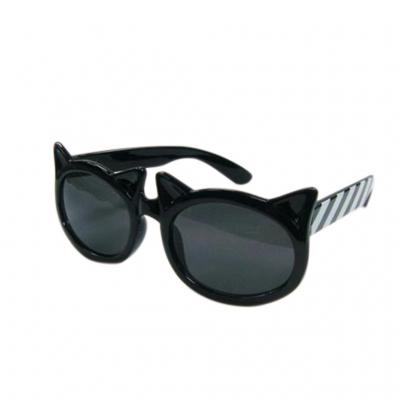 SPICE UVカットキッズファッショングラス ダブルキャット ブラック