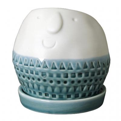 SPICE Maske ラウンドプランター ホワイト Lサイズ