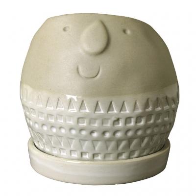 SPICE Maske ラウンドプランター グレー Lサイズ
