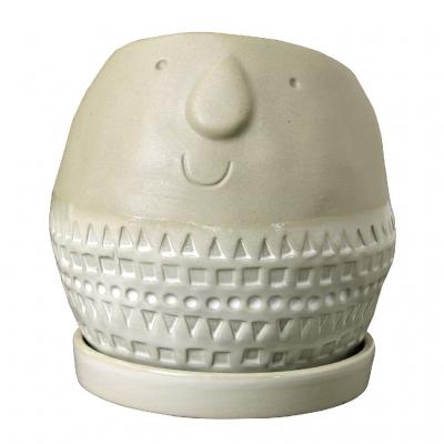 SPICE Maske ラウンドプランター グレー Sサイズ