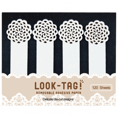 SPICE LOOK-TAG! デザイン付箋 フラワー