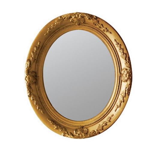 SPICE OF LIFE ANCIENT アンティークスタイルオーバルミラー ゴールド Sサイズ
