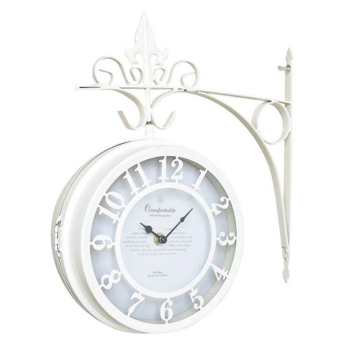 SPICE OF LIFE OLD STREET 壁掛け両面時計 ホワイト Lサイズ