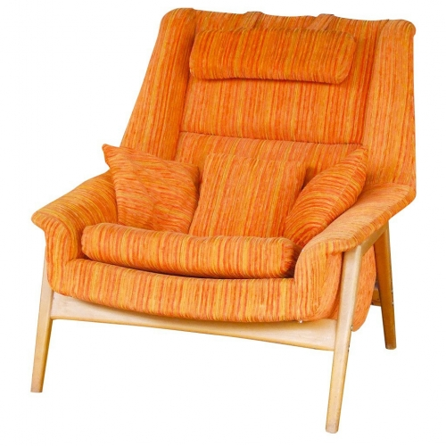 orange swedish chair