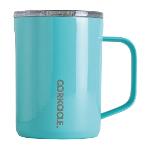 CORKCICLE COFFEE MUG Turquoise 16oz